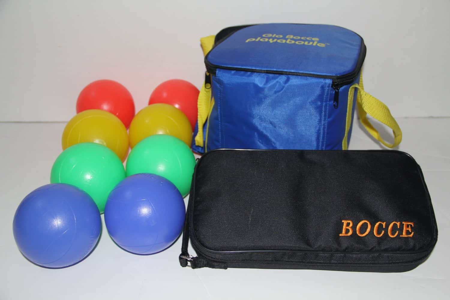 Bocce Package - Glow in Dark Light up Set and 73mm Metal Petanque Set