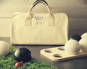 bocce ball bag and set