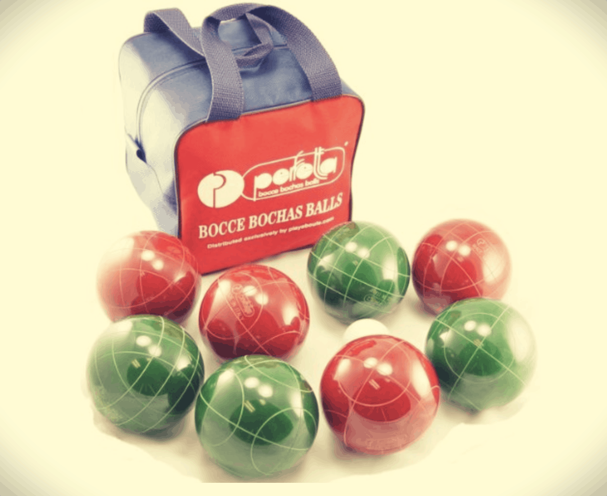 professional bocce set and bag